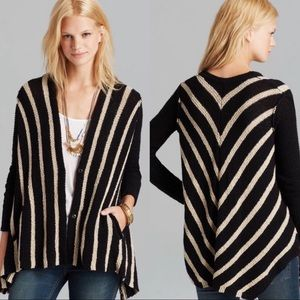 Free People | Oversized Striped Circle Cardigan